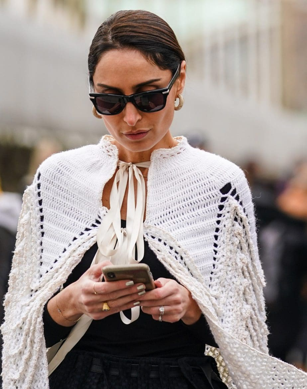 Street Style  – Paris Fashion Week – Womenswear Fall/Winter 2020/2021 : Day Five
